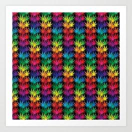 Cannabis Rainbow Art Print