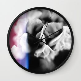 Pristine Petals Wall Clock