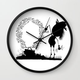 The Letter O Wall Clock