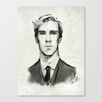 benedict Canvas Prints featuring benedict cumberbatch  by Angela Taratuta