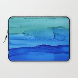 Alcohol Ink Seascape Laptop Sleeve