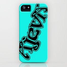Ajeva Logo 2 Teal iPhone Case