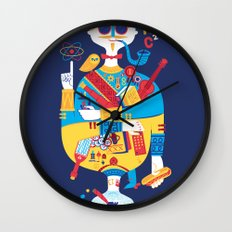 Jack of Smarts (Knave of Slobs) Wall Clock