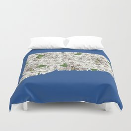 Connecticut in Flowers Duvet Cover