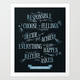 The Responsibility Prayer Art Print