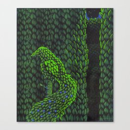 Topiary Peacock Canvas Print