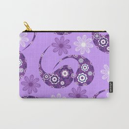Lilac gentle modern Paisley  Carry-All Pouch