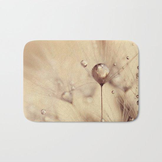 dandelion gold drop Bath Mat