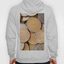 Watercolor Coins, Lincoln Wheat Pennies, 1938 04 Hoody
