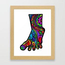 Folk Art Foot Framed Art Print