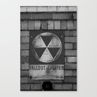 fallout Canvas Prints featuring Fallout by Lia Bedell