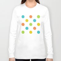 polka dot Long Sleeve T-shirts featuring Colorful polka dot pattern by Natalia Bykova