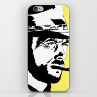 clint barton iPhone & iPod Skins featuring Clint by Gary Barling