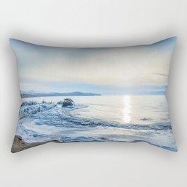 Frozen wharf and Halo Rectangular Pillow