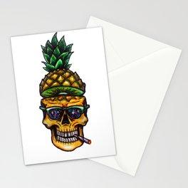 Pineapple Skull Stationery Cards