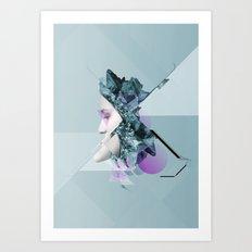 Faces Blue 03 Art Print