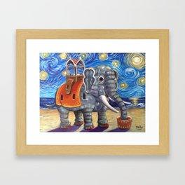 Starry Lu Framed Art Print