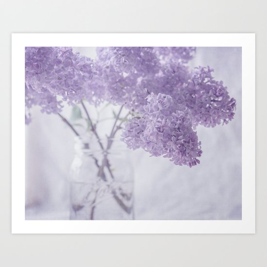First Love - Pastel Purple Lilac Floral Decor by suzanneharford