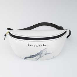 Farewhale Humour Whale Farewell Goobye design Fanny Pack
