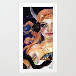 Ariadne and the snake Art Print