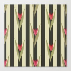 Spring flowers. Tulips are red. Retro. Canvas Print