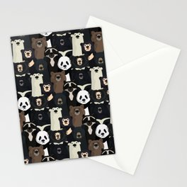 Bears of the world pattern Stationery Cards