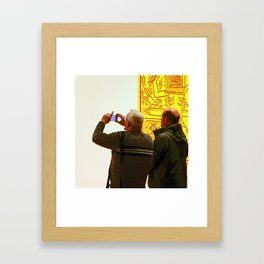 The White Wall Framed Art Print