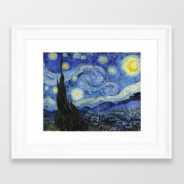 Starry Night by Vincent Van Gogh Framed Art Print