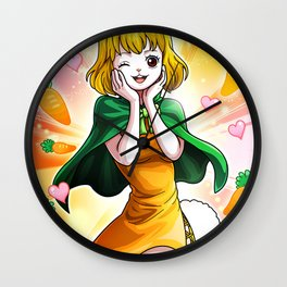 Carrot - One piece Wall Clock