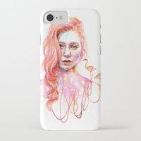 flamingo iPhone & iPod Cases featuring Flamingo by Veronika Weroni Vajdová
