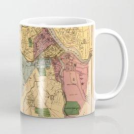 Map Of Lowell 1881 Coffee Mug