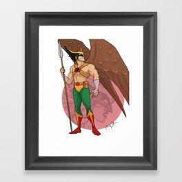 Hawkman Animated Framed Art Print