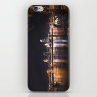 cincinnati iPhone & iPod Skins featuring Cincinnati Glow by Stacey Cat