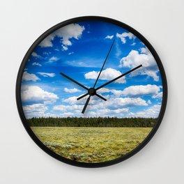 Wide Open Wall Clock