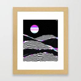 Stripes Mountains Framed Art Print