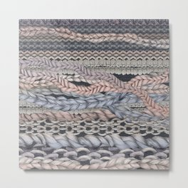 Romantic Stitches Metal Print
