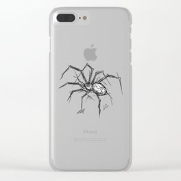 Spider Handmade Drawing, Made in pencil and ink, Tattoo Sketch, Tattoo Flash, Blackwork Clear iPhone Case