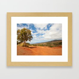 The red dirt road Framed Art Print