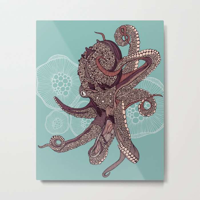 Octopus Bloom Metal Print