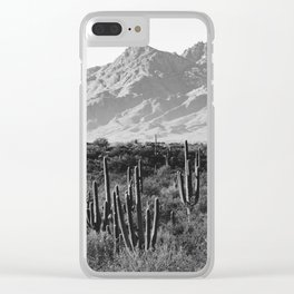 Wild West III - Tucson - Black & White version Clear iPhone Case