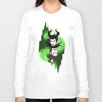 maleficent Long Sleeve T-shirts featuring Maleficent by Pendientera