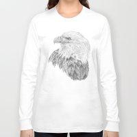 eagle Long Sleeve T-shirts featuring Eagle by Ora Kolmanovsky