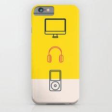 work hard play hard iPhone 6s Slim Case