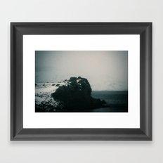 Foggy Cliff Framed Art Print