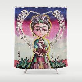 """Frida K."" Shower Curtain"