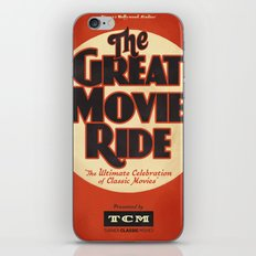 Great Movie Ride TCM Poster iPhone Skin