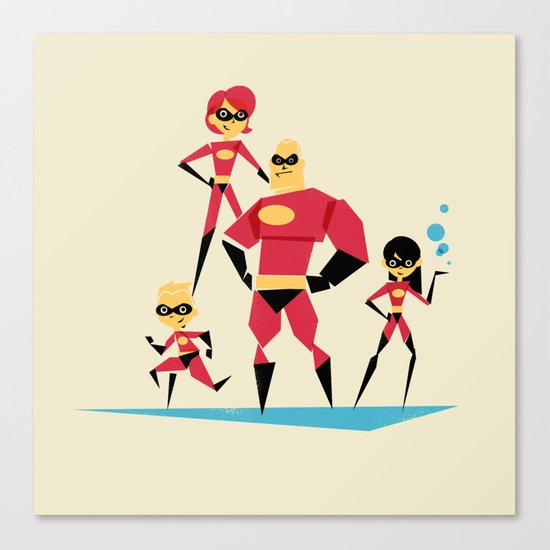 Incredi-family Canvas Print