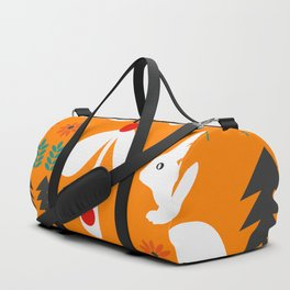 Sweet Christmas bunnies Duffle Bag
