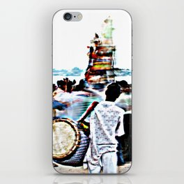 Drummer at Durga Puja Immersion iPhone Skin