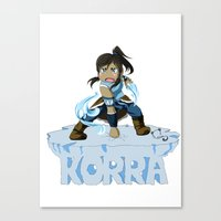 korra Canvas Prints featuring Korra by HelloTwinsies